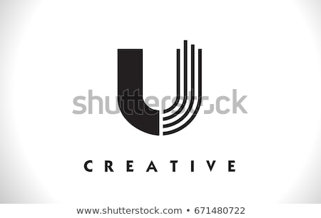 u logo u letter icon design vector stock photo © twindesigner