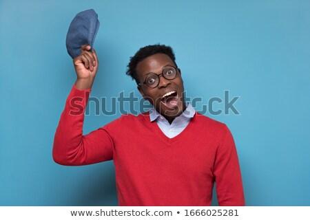 Uomo gesto illustrazione giovani Foto d'archivio © lenm
