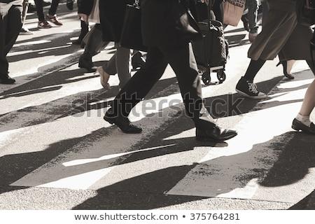 Mensen lopen voetganger Osaka Japan weg Stockfoto © alphaspirit