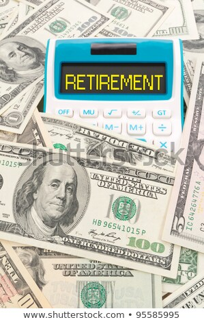 A calculator with the word Retirement on the display Stock photo © Zerbor