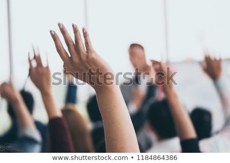 üzletemberek · kezek · csapatmunka · kilátás · sokoldalú · csoport - stock fotó © andreypopov