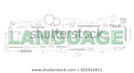 Languages education collage Stock photo © netkov1