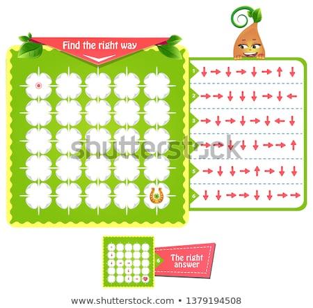 labirinto · indovinare · parole · educativo · gioco · ragazzi - foto d'archivio © olena