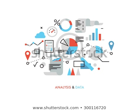Monitor with information,  and Infocharts Business Stock photo © robuart