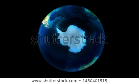The night half of the Earth from space showing Antarctica Stock photo © ConceptCafe