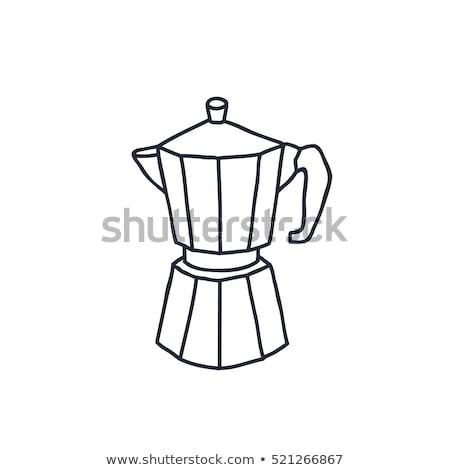 koffie · metaal · teken · vintage · stijl · tin - stockfoto © netkov1