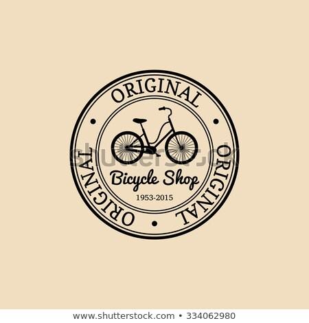 Gentleman rétro vintage vieux vélo ville Photo stock © NikoDzhi