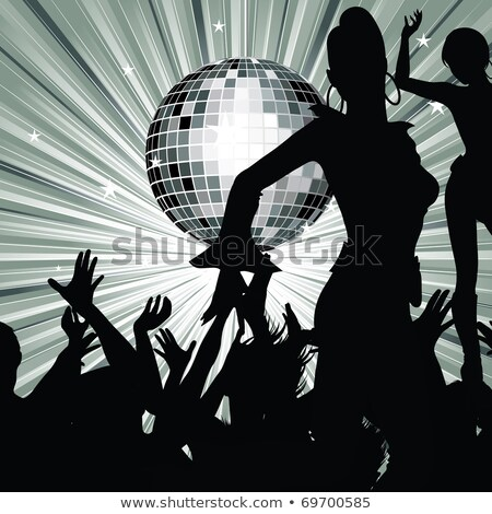 Disco Party Women, Night Life of Clubbers. Vector Stock photo © robuart