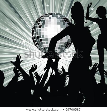 Cartoon · женщины · танцы · вместе · вечеринка · синий - Сток-фото © robuart