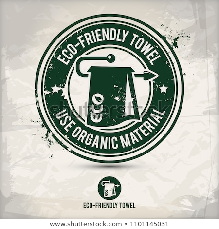 alternative eco friendly towel stamp Stock photo © szsz