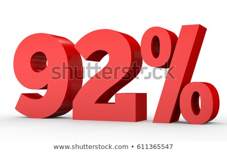 ninety two percent on white background isolated 3d illustration stock photo © iserg