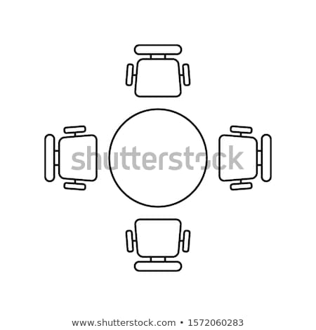 table with four chairs isolated vector furniture stock photo © robuart