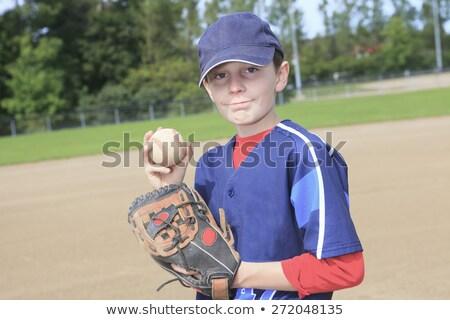 Kind baseball veld sport jongen vuil Stockfoto © Lopolo
