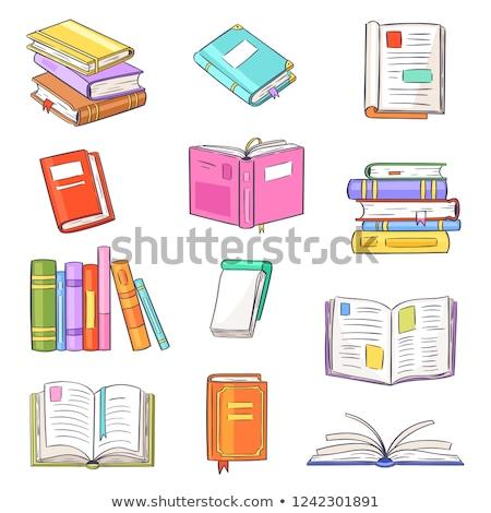Books Pile Kids Illustration Stock photo © lenm