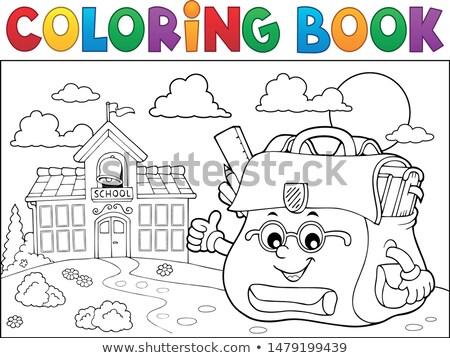 книжка-раскраска счастливым тема стороны книга лице Сток-фото © clairev
