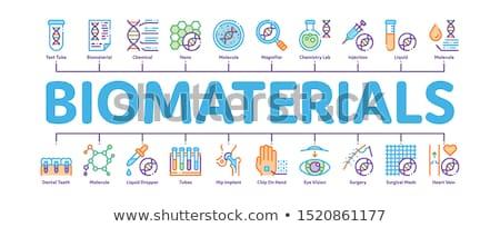 Minimális infografika szalag vektor háló biológia Stock fotó © pikepicture
