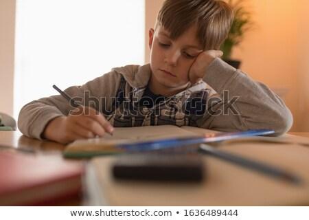 Vue jeunes innocent garçon mathématiques Photo stock © wavebreak_media