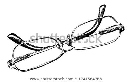 Gözlük okuma tek renkli vektör kadın optik Stok fotoğraf © pikepicture