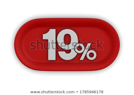 Diecinueve por ciento blanco aislado 3d fuego Foto stock © ISerg