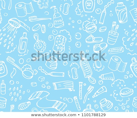 bathroom vector hand drawn doodles seamless pattern graphics background design stock photo © balabolka