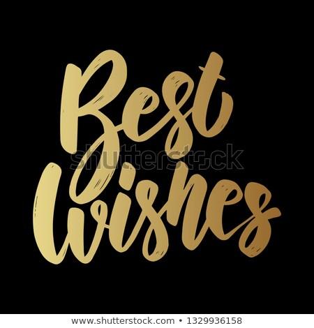 Legjobb kívánságok kifejezés grunge dizájn elem poszter Stock fotó © masay256