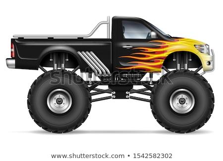 Realistic black monster truck Stock photo © YuriSchmidt