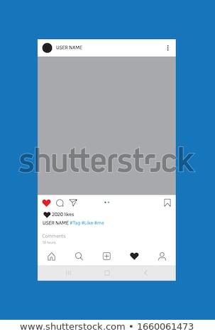 Red social marco post mensajero plantilla vector Foto stock © Andrei_
