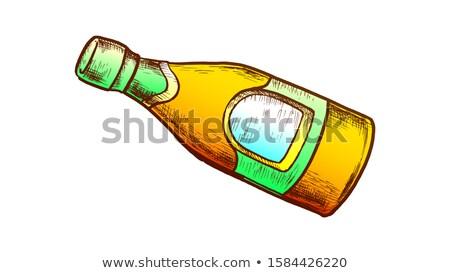 устрица соус бутылку Label ретро вектора Сток-фото © pikepicture