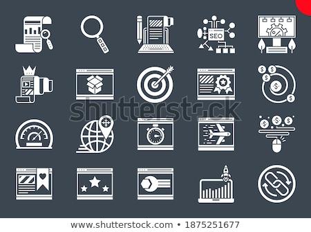 On Pay related vector glyph icon. Stock photo © smoki