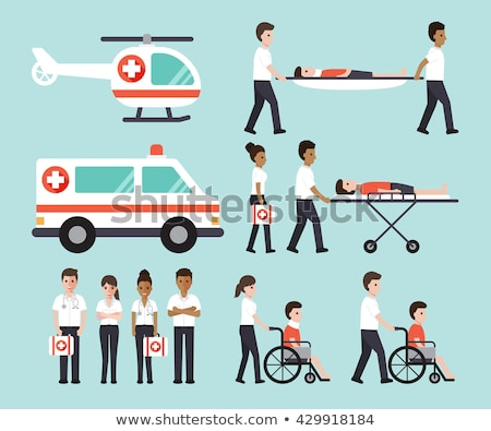 An ambulance doctor. Male medic with first aid kit Stock photo © studiostoks