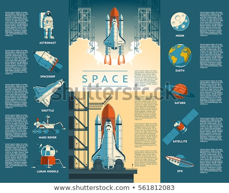 rocket launch space ship for galaxy exploration set Stock photo © vector1st