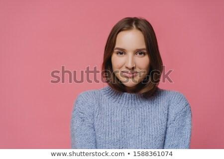 Hermosa morena dama de punto caliente suéter Foto stock © vkstudio