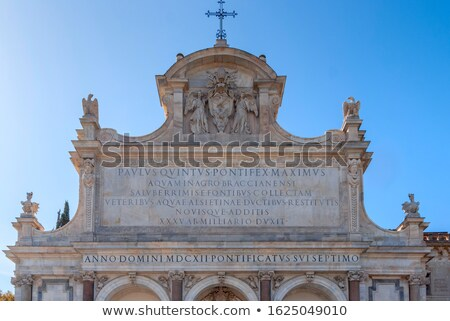Fontana dell'Acqua Paola is a monumental fountain located on the Stock photo © Zhukow