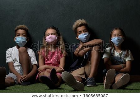 Cute jongens meisje asian kaukasisch afrikaanse Stockfoto © pressmaster