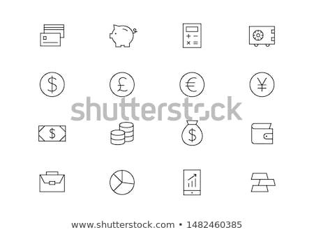 Piggy Bank With Pound Banknotes Stock photo © albund