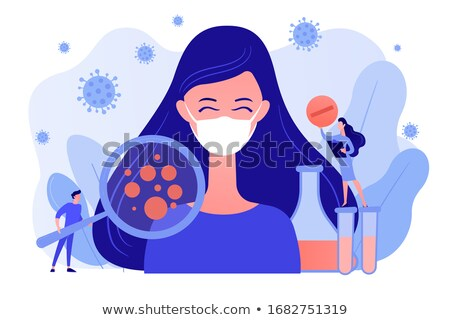 Coronavirus patient showing respiratory symptoms concept vector Stock photo © RAStudio
