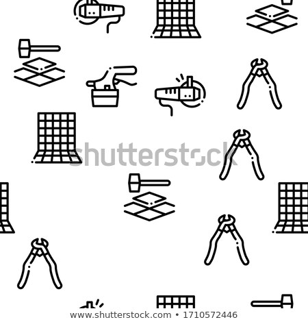 Tiler Work Equipment Seamless Pattern Vector Stock photo © pikepicture