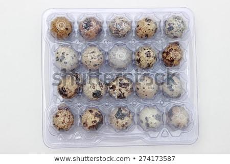 Quail eggs pack Stock photo © karandaev