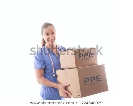 Enfermeira saúde trabalhador caixas médico Foto stock © lovleah