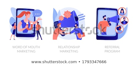 Customer oriented marketing strategy abstract concept vector illustrations. Stock photo © RAStudio