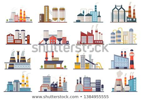 Centrale design industrielle bâtiment raffinerie usine Photo stock © designer_things