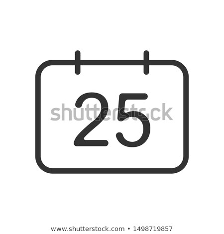 Simple negro calendario icono 25 agosto Foto stock © evgeny89
