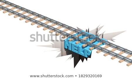 Vasút veszély segítség 3D 3d render illusztráció Stock fotó © djmilic