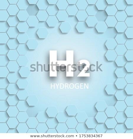水素 青 六角形 構造 カバー ハニカム ストックフォト © limbi007