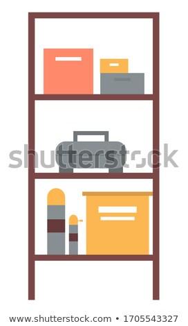 Workshop plank dozen toolbox teken vector Stockfoto © robuart