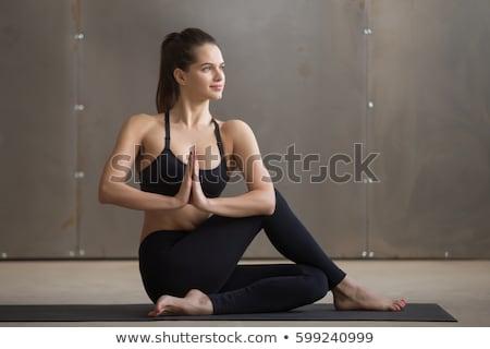 sitting half spinal twist stock photo © fahrner