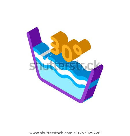 Laundry Thirty Degrees Celsius isometric icon vector illustration Stock photo © pikepicture