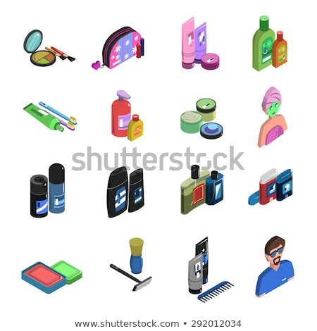 Shaving Razor And Blade isometric icon vector illustration Stock photo © pikepicture