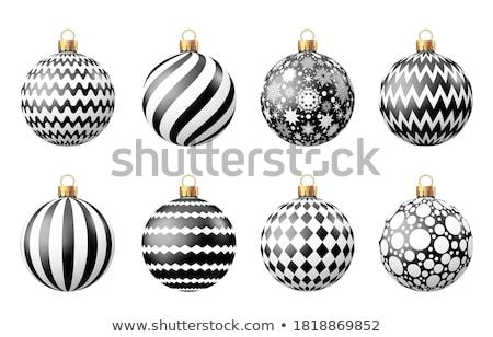 wesoły · christmas · festiwalu · powitanie · star · piłka - zdjęcia stock © orson