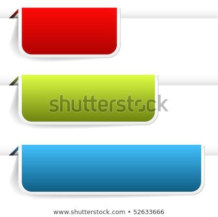 Lege kleurrijk papier bladwijzers nieuwe Stockfoto © orson